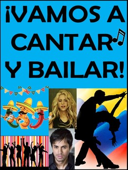 Vamos a Cantar y Bailar - Spanish Song and Cloze Activities Packet (158 pages)