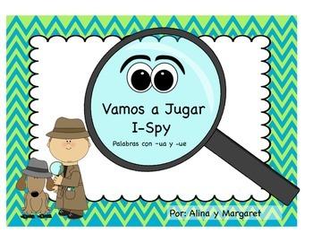 Vamos a Jugar - I Spy,  Palabras con ua y ue