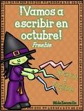 Vamos a escribir en octubre FREEBIE - October Center in Spanish & English