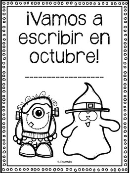 Vamos a escribir en octubre FREEBIE - October Center in Spanish & English