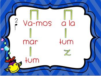 Vamos a la Mar - a song to practice ta, titi, ta rest, 2/4