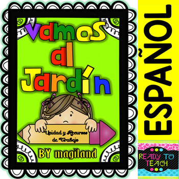 Vamos al Kinder (Unit Work, Posters, Flashcards and printables in Spanish)