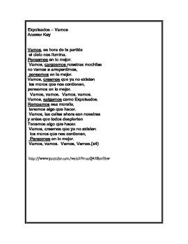 Vamos by Expulsados - song with nosotros commands