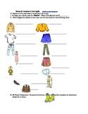 Vamos de compras: Vocabulario de la ropa