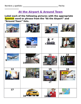 Vamos de viaje Visual Vocabulary Practice (Avancemos 2 U1L1)