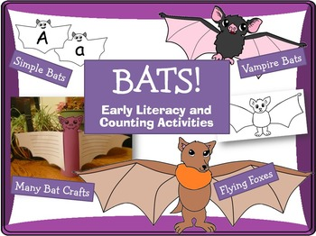 Bat Crafts, Literacy and Math Fun!