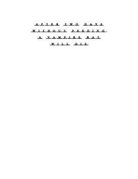 Vampire Bat Word Search and Hidden Message