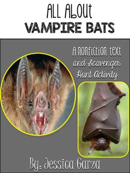 Vampire Bats Non Fiction Article AND Scavenger Hunt
