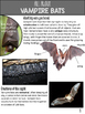 Vampire Bats Non Fiction Article AND Scavenger Hunt