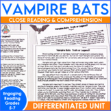 Reading Comprehension Passage and Questions: Vampire Bats