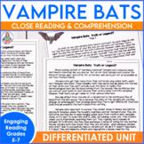 October Informational Reading Vampire Bats
