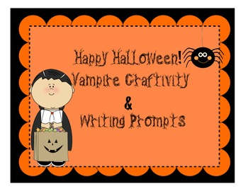 Vampire Craftivity and Writing Templates {Halloween}