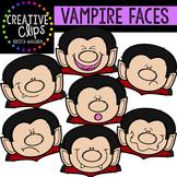 Vampire Faces {Creative Clips Digital Clipart}