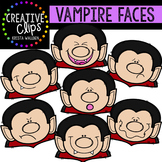 Vampire Faces {Creative Clips Digital Clipart}