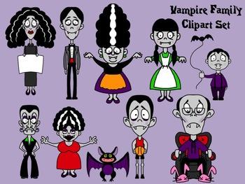 Vampire Family Halloween Clip Art Set