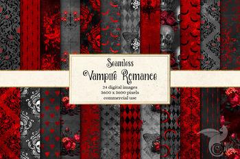Vampire Halloween Digital Paper Spooky Backgrounds