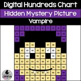 Digital Vampire Hundreds Chart Hidden Picture Activity for Halloween Math