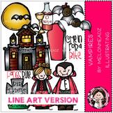 Vampires clip art - LINE ART - by Melonheadz