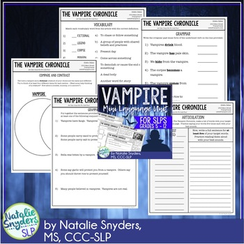 Vampire Mini Language Unit for Speech Language Therapy