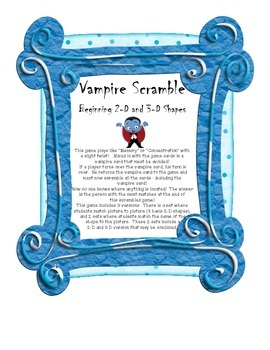 Vampire Scramble: Beginning 2-D and 3-D Shapes
