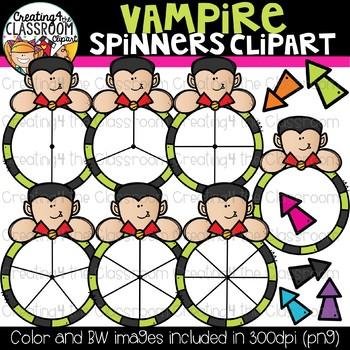 Vampire Spinners Clipart Bundle {Halloween Clipart}