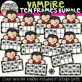 Vampire Ten Frames Clipart Bundle {Halloween Clipart}