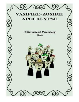 Vampire Zombie Vocabulary Unit