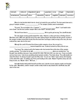 """""""Vampire Zombie"""" Differentiated Vocabulary Unit for the Middle Grades"""