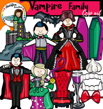 Vampire family Clip Art