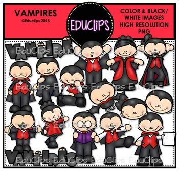 Vampires Clip Art Bundle {Educlips Clipart}