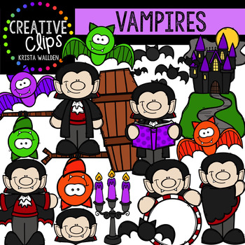 Vampires {Creative Clips Clipart}