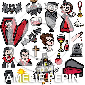Vampires and Accessories Clip Art (46)