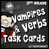 Vampires and Verbs Task Cards for Third Graders (Spooky Sentence Writing)