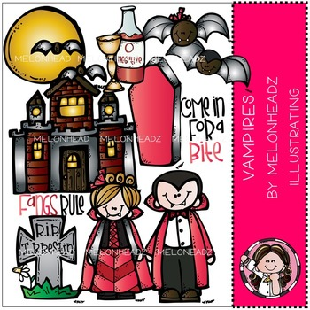 Vampires clip art - COMBO PACK- by Melonheadz