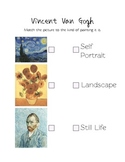 Van Gogh Assessment - Warm and Cool Colors
