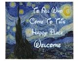 Van Gogh - Disney Door Sign/Poster