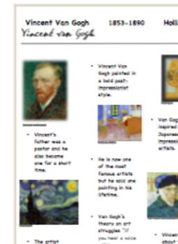 Van Gogh Fun Facts