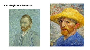 Van Gogh Inspired Self Portrait PowerPoint Project