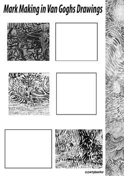 Van Gogh Mark Making Worksheet