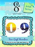 Van Gogh Number Clip Art