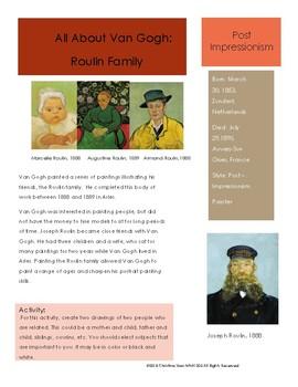 Van Gogh Sketchbook Prompt- Roulin Family