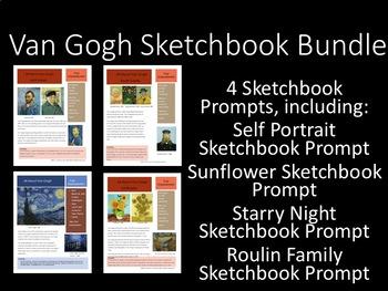 Van Gogh Sketchbook Prompt Bundle