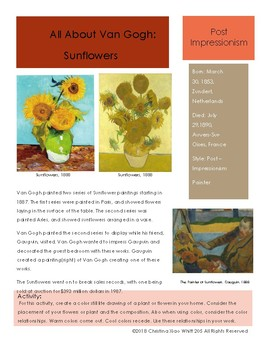 Van Gogh Sketchbook Prompt-Sunflowers