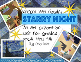 Van Gogh Starry Night Unit Plan with Printables.