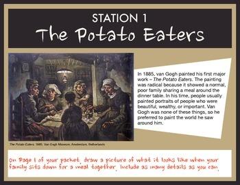 Van Gogh Stations Drawing Activity