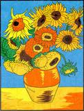 Van Gogh Sunflower Mural