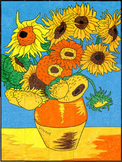 Van Gogh Sunflower Mural