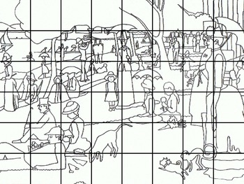 Famous Artworks with Grids for Collaborative Group Projects