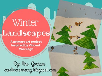 Van Gogh Winter Landscape & Animal Art Project for Primary Aged Students