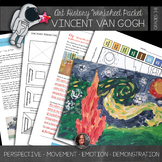 Van Gogh Worksheets & Art Activities - Starry Night - No P